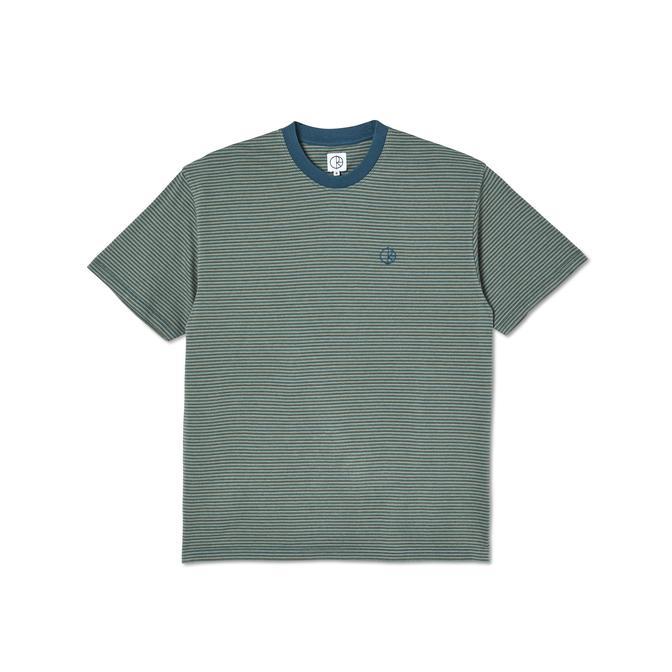 POLAR DIZZY STRIPE T-SHIRT - BLUE