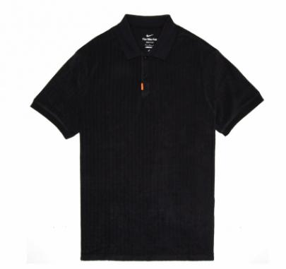 NIKE THE NIKE POLO SB OL TERRY CLOTH - BLACK/BLACK
