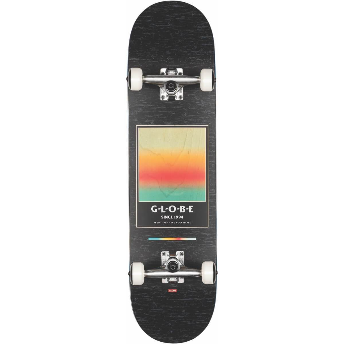 "GLOBE SUPERCOLOR 8.125"" SKATEBOARD COMPLETE - BLACK/POND"