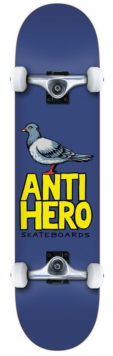 ANTI HERO PIGEON HERO MINI COMPLETE SKATEBOARD - BLUE