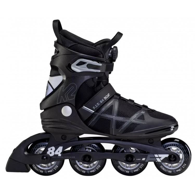 K2 F.I.T. BOA INLINE SKATE - BLACK SILVER