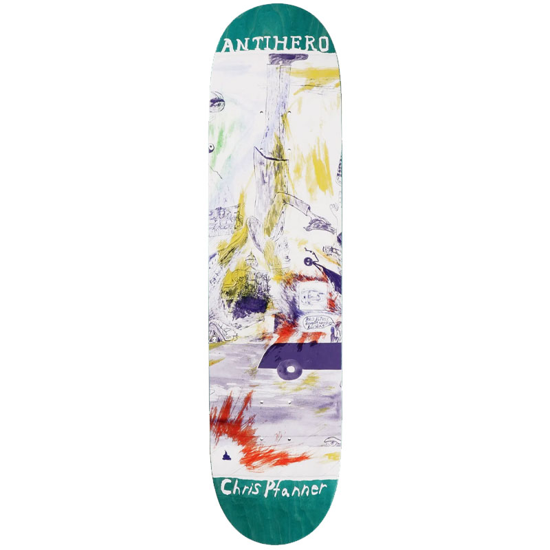 """ANTI HERO PFANNER SF THEN AND NOW 8.06"""" SKATEBOARD DECK"""