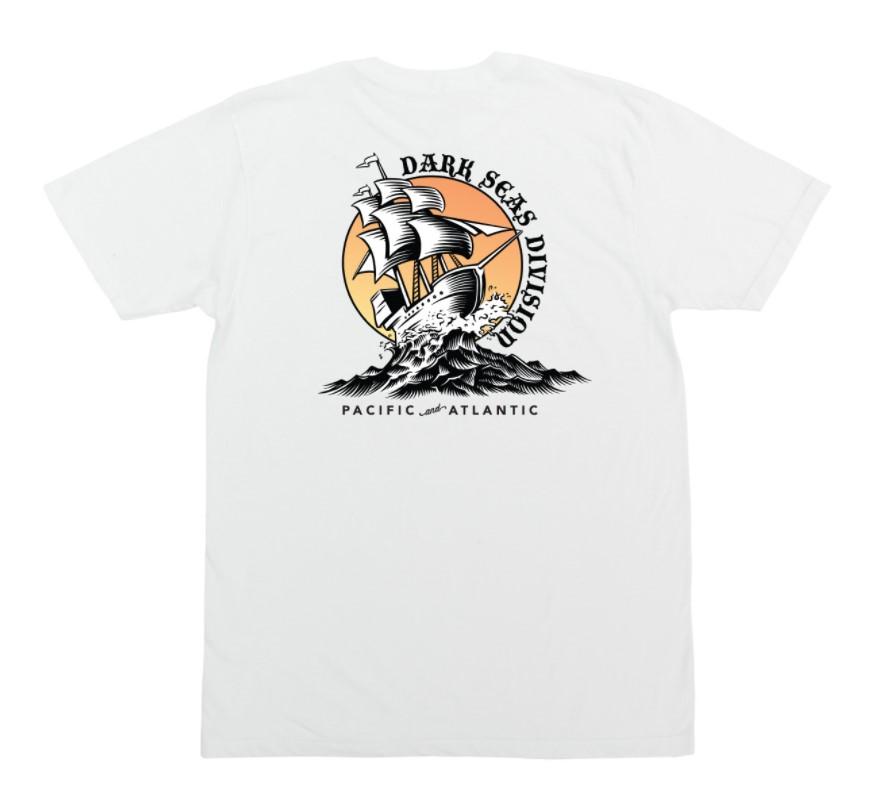 DARK SEAS BALBOA PREMIUM SHORT SLEEVE T-SHIRT - WHITE