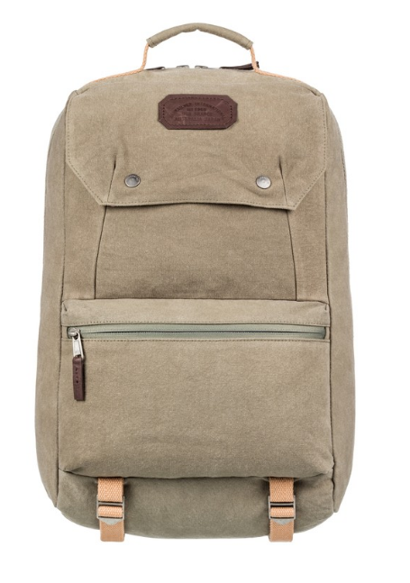 QUIKSILVER PREMIUM 28L LARGE CANVAS BACKPACK PRALINE