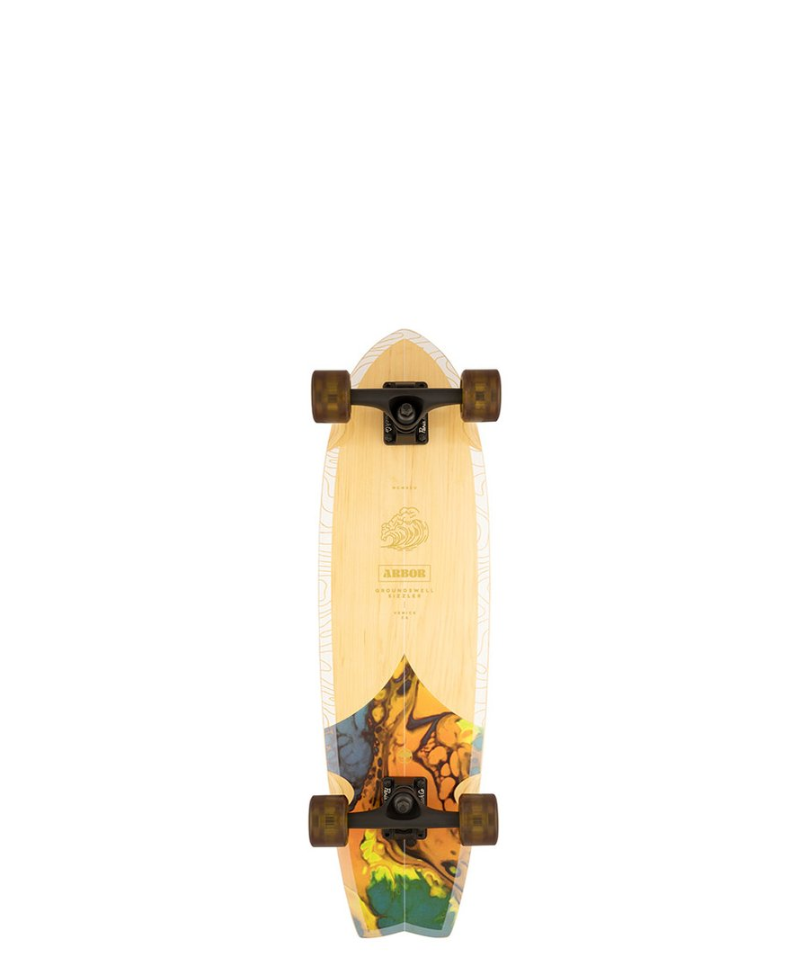 """ARBOR CRUISER LONGBOARD COMPLETE 30.5"""" - GROUNDSWELL SIZZLER"""