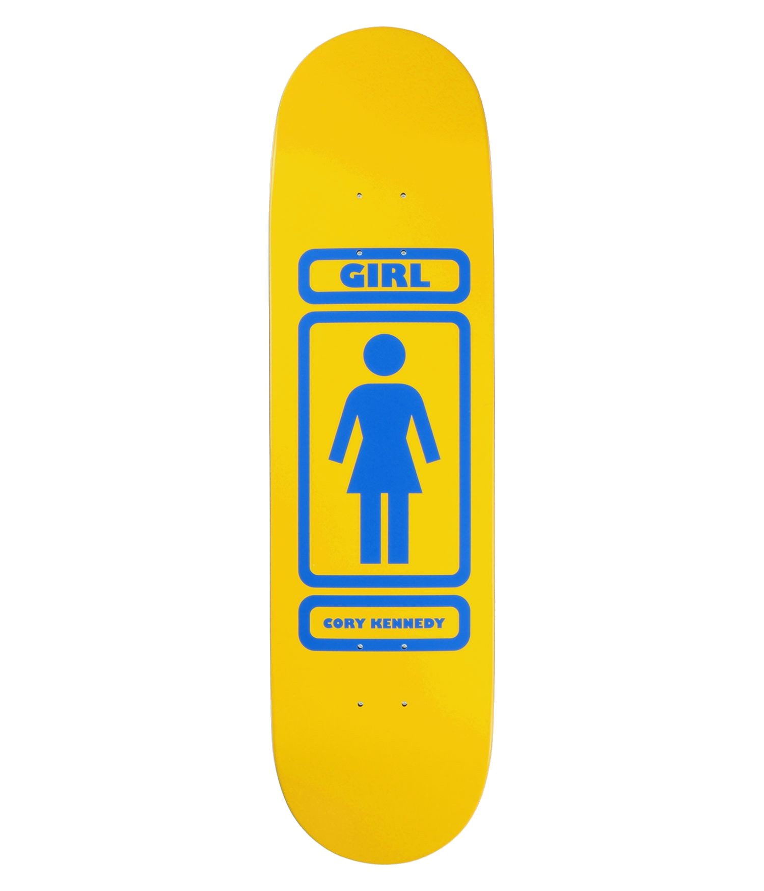 "GIRL KENNEDY 93 TIL 8.375"" SKATEBOARD DECK - YELLOW/BLUE"