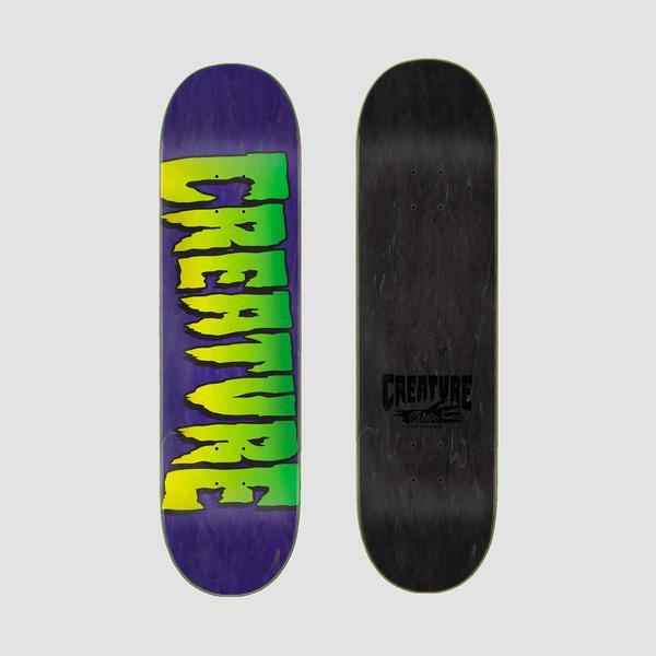 CREATURE LOGO STUMPS SKATEBOARD DECK - PURPLE