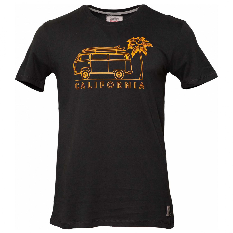 VAN ONE CLASSIC CARS CALIFORNIA T-SHIRT - BLACK OLD ORANGE