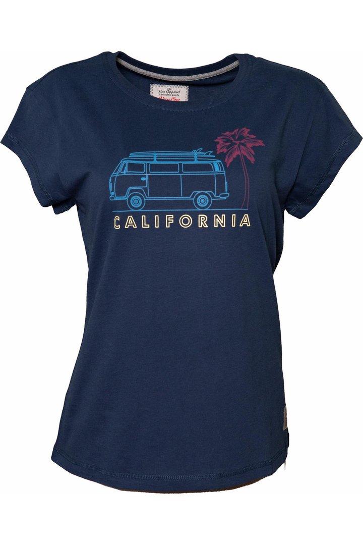VAN ONE CLASSIC CARS CALIFORNIA T-SHIRT - NAVY MULTI