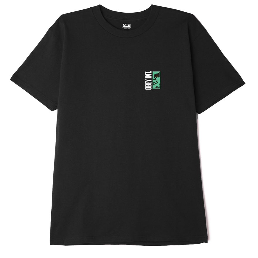 OBEY VERTICAL ICON T-SHIRT - BLACK