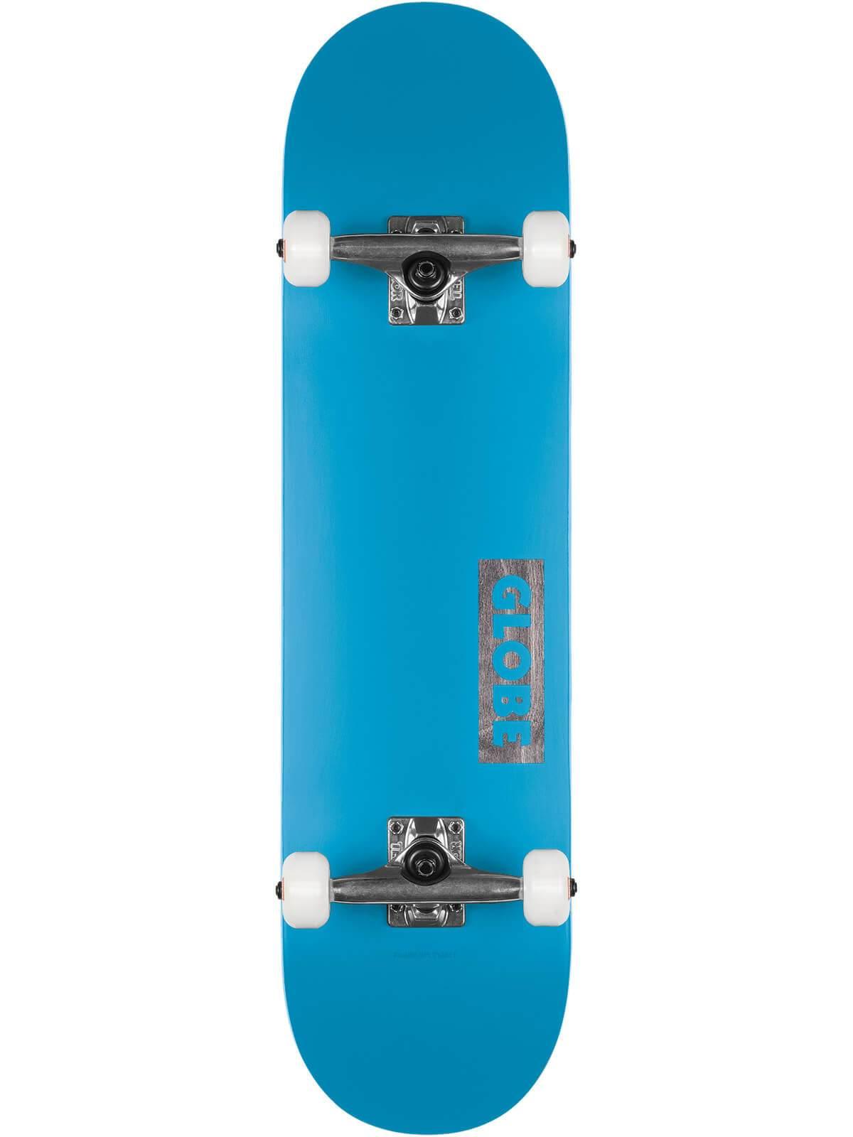 GLOBE GOODSTOCK 8.375 SKATEBOARD COMPLETE - NEON BLUE