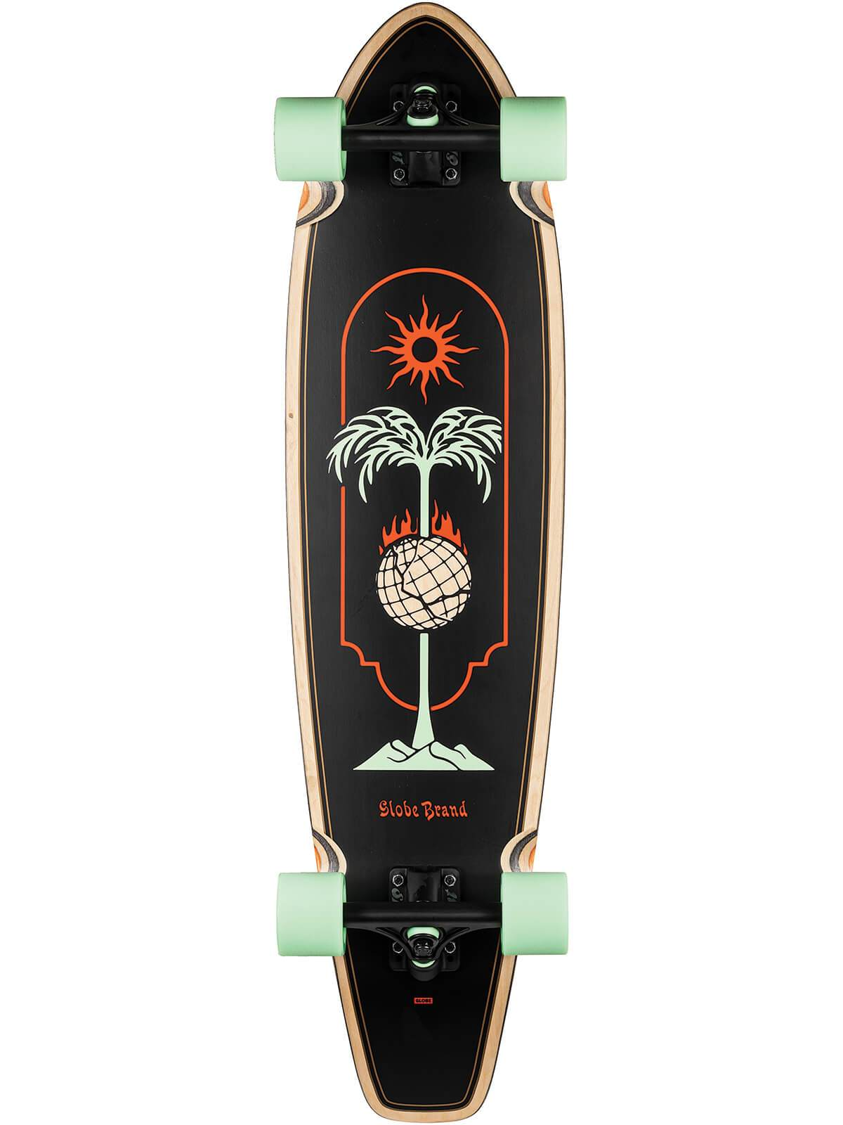 "GLOBE THE ALL-TIME 35,875"" LONGBOARD COMPLETE - SKEWERED"