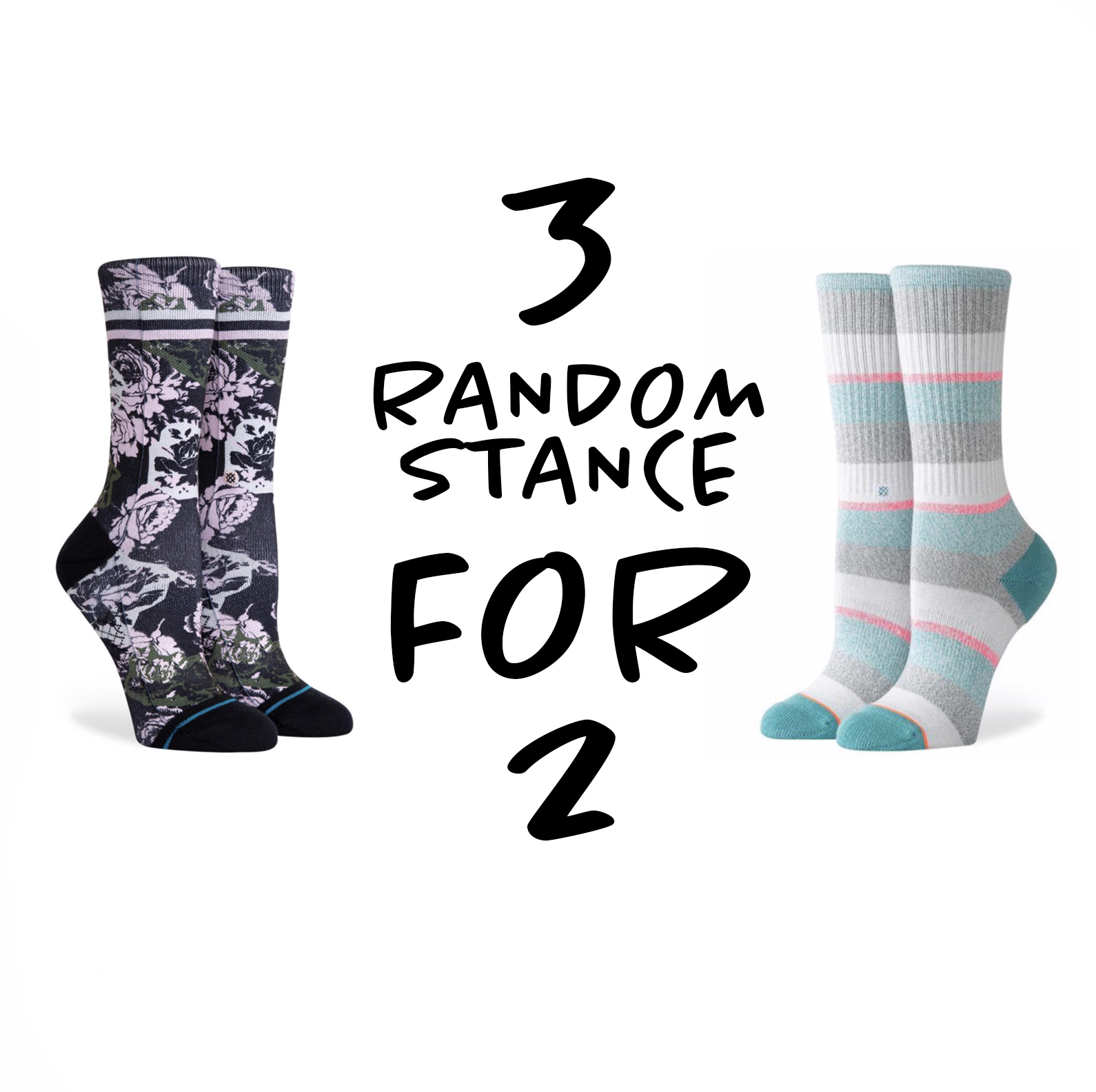 3 FOR 2 STANCE DAMES SOKKEN - SMALL