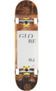 GLOBE G2 TYPHOON 8.0FU COMPLETE SKATEBOARD - YELLOW