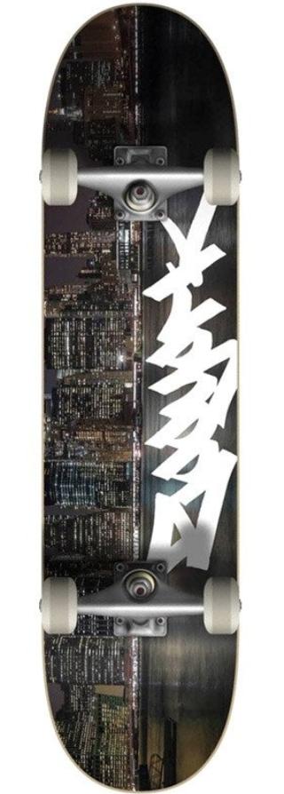 "ZOO YORK NIGHT SKATEBOARD COMPLETE 8.0"""