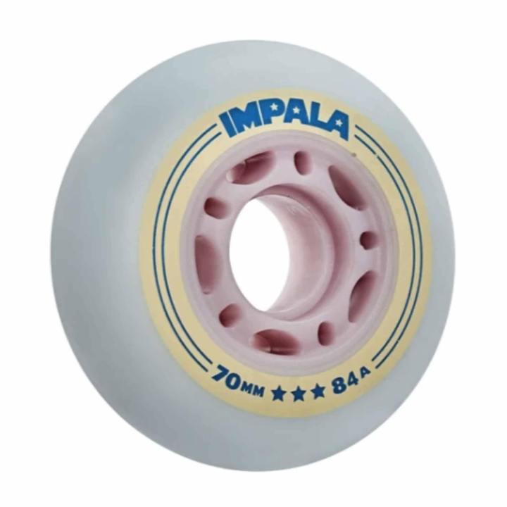IMPALA INLINE WIELEN (4-STUKS) - SKY BLUE/YELLOW