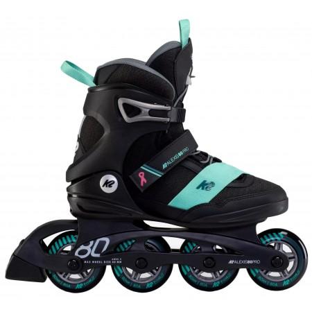 K2 ALEXIS 80 PRO INLINE SKATE - BLACK TEAL