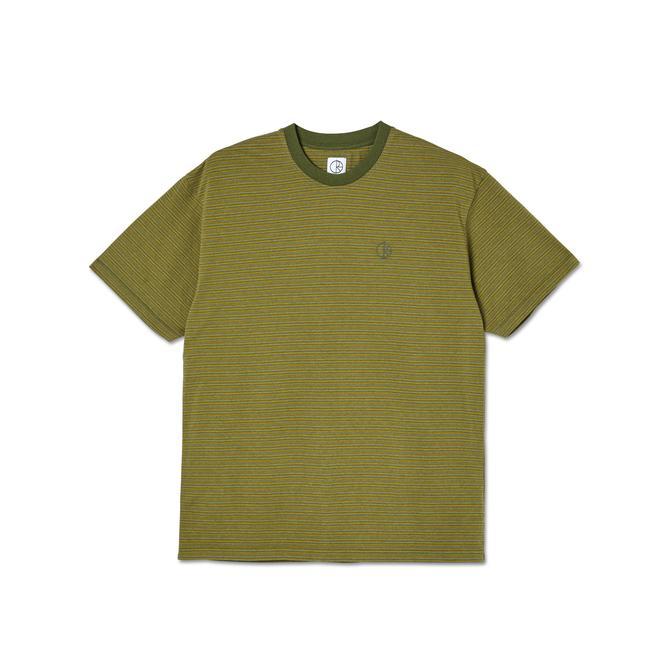 POLAR DIZZY STRIPE T-SHIRT - ARMY GREEN