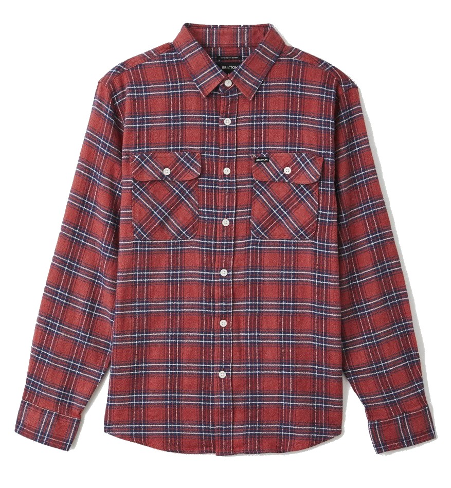 BRIXTON BOWERY LW L/S X FLANNEL OVERHEMD - COWHIDE