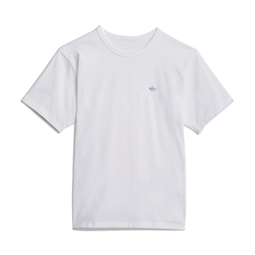 ADIDAS HEAVYWEIGHT SHMOO SHORT SLEEVE T-SHIRT (UNISEKS) - WHITE/HAZY BLUE