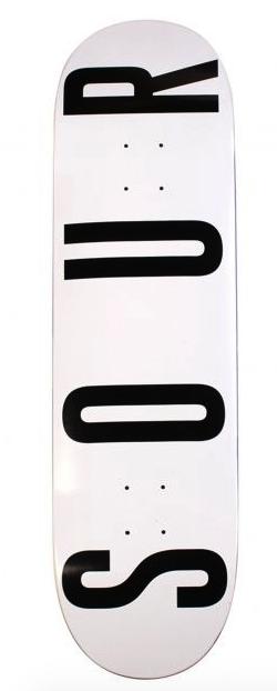"SOUR ARMY 8.0"" SKATEBOARD DECK - WHITE"