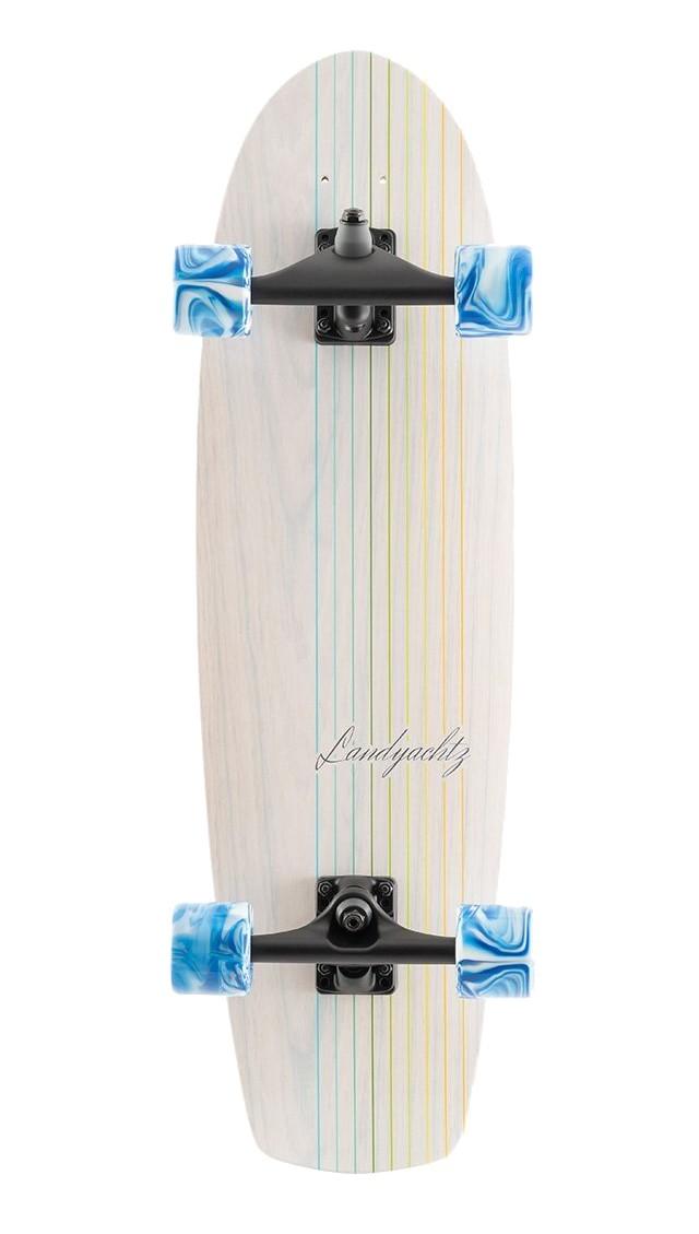 LANDYACHTZ BUTTER WHITE OAK LINES 31,2'' SURFSKATE COMPLETE