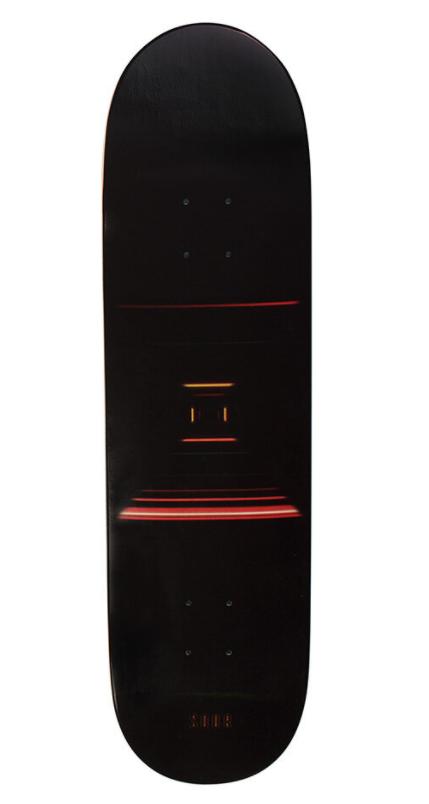 "SOUR LIGHT TUNNEL RED 8.25"" SKATEBOARD DECK"