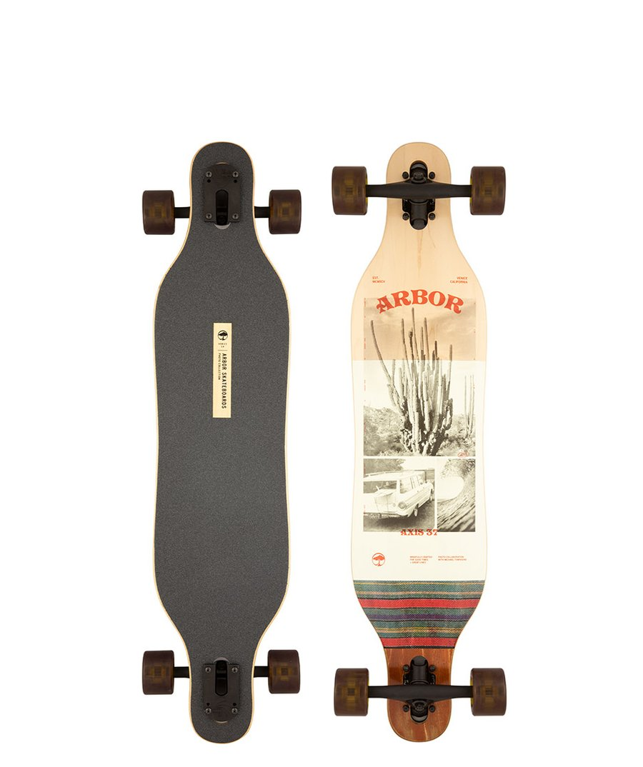 """ARBOR PERFORMANCE COMPLETE LONGBOARD 37"""" PHOTO AXIS"""