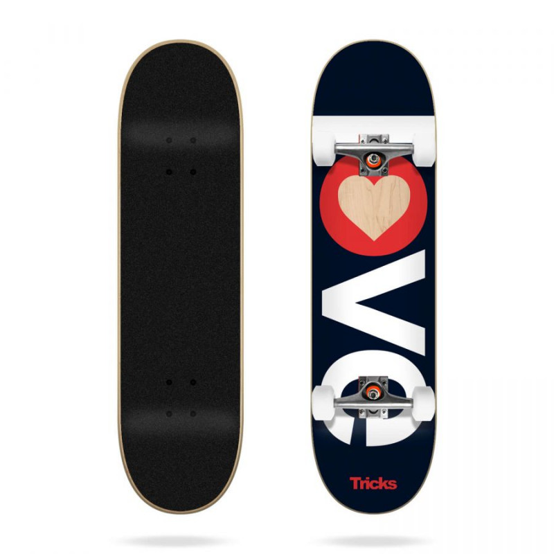 TRICKS LOVE 7.25'' SKATEBOARD COMPLETE (KIDS)