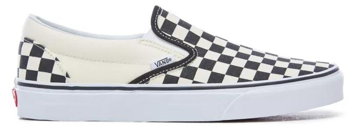 VANS CLASSIC SLIP-ON CHECKERBOARD SCHOENEN - BLACK/WHITE/CHECKERBOARD