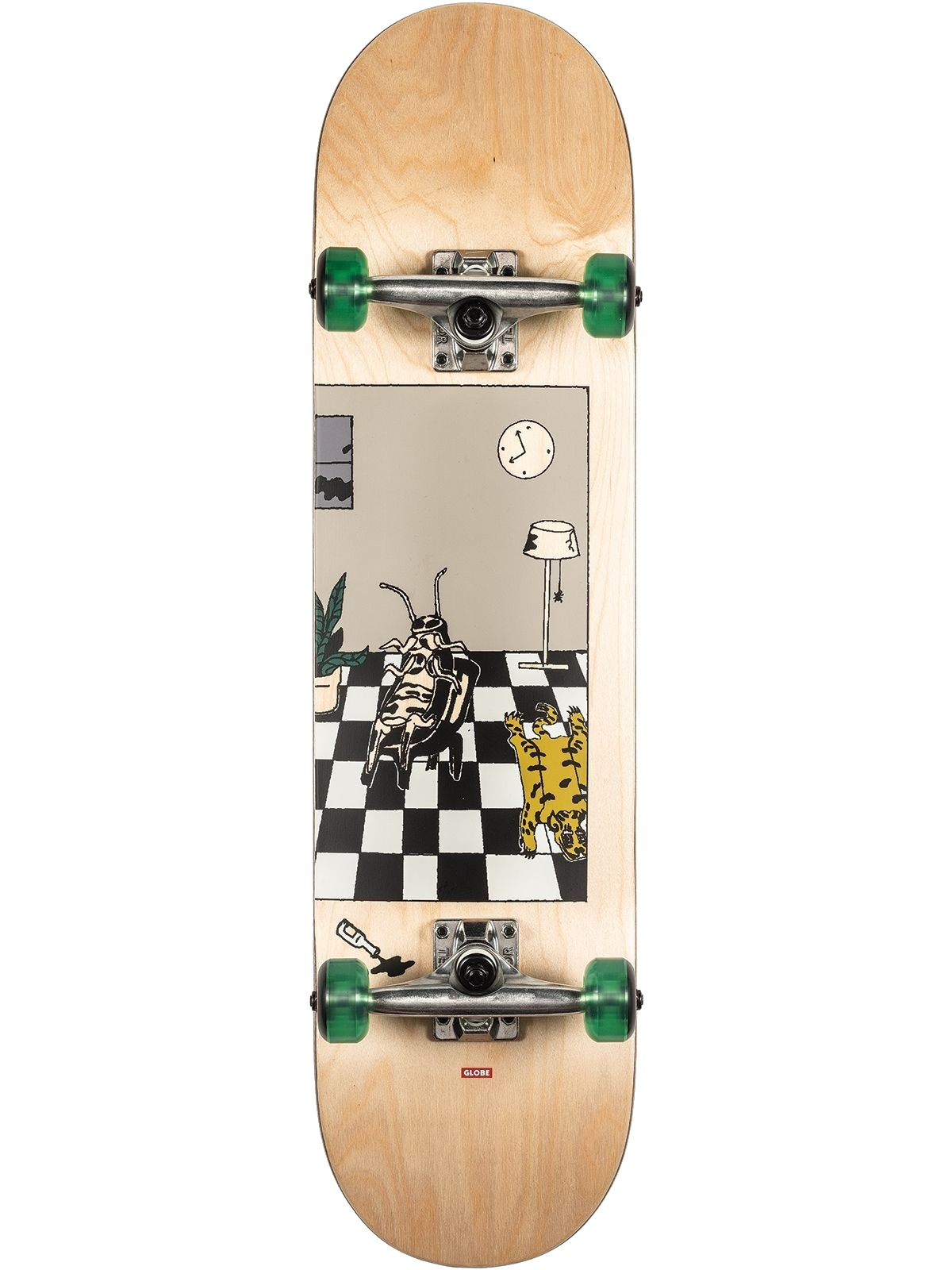 GLOBE G1 ROACHES SKATEBOARD COMPLETE - NATURAL
