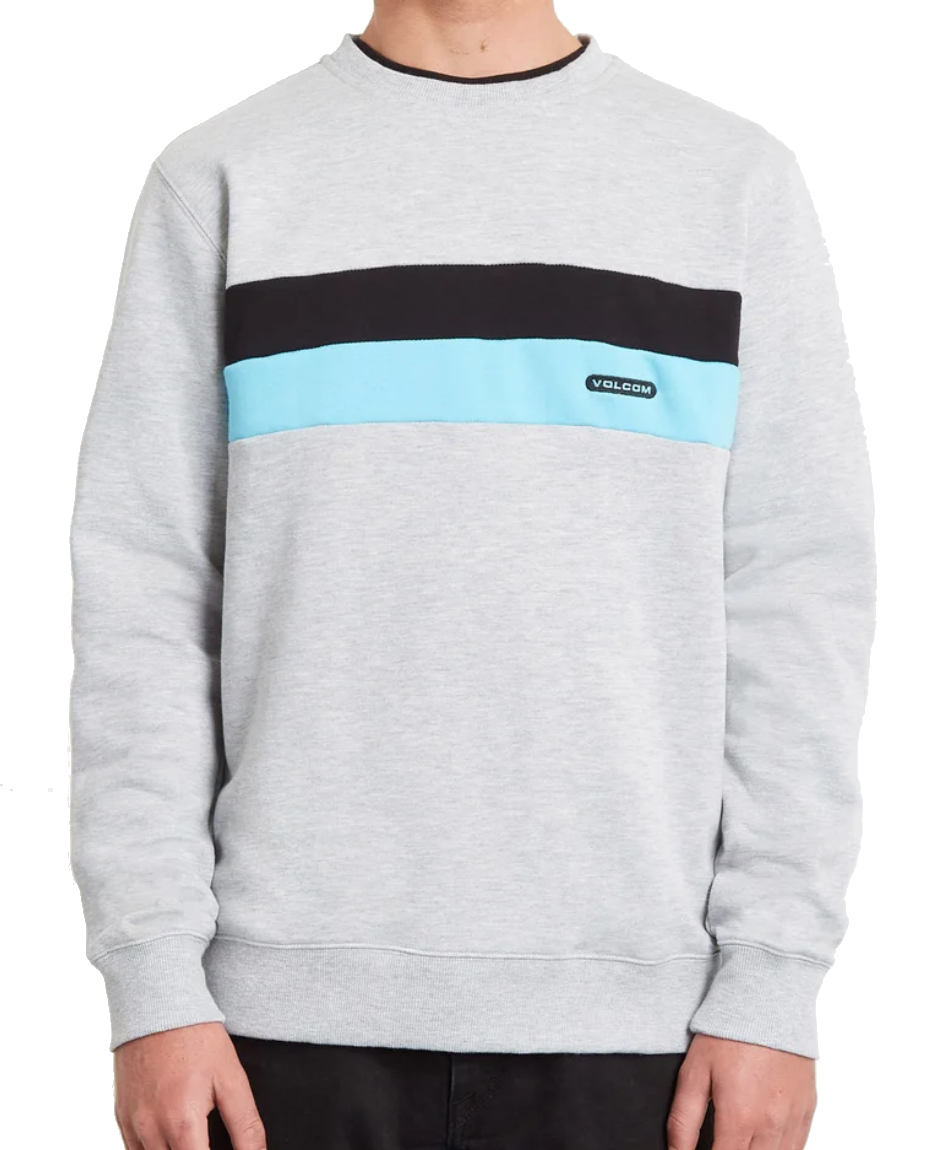 VOLCOM SINGLE STONE DIVISION SWEATER - HEATHER GREY