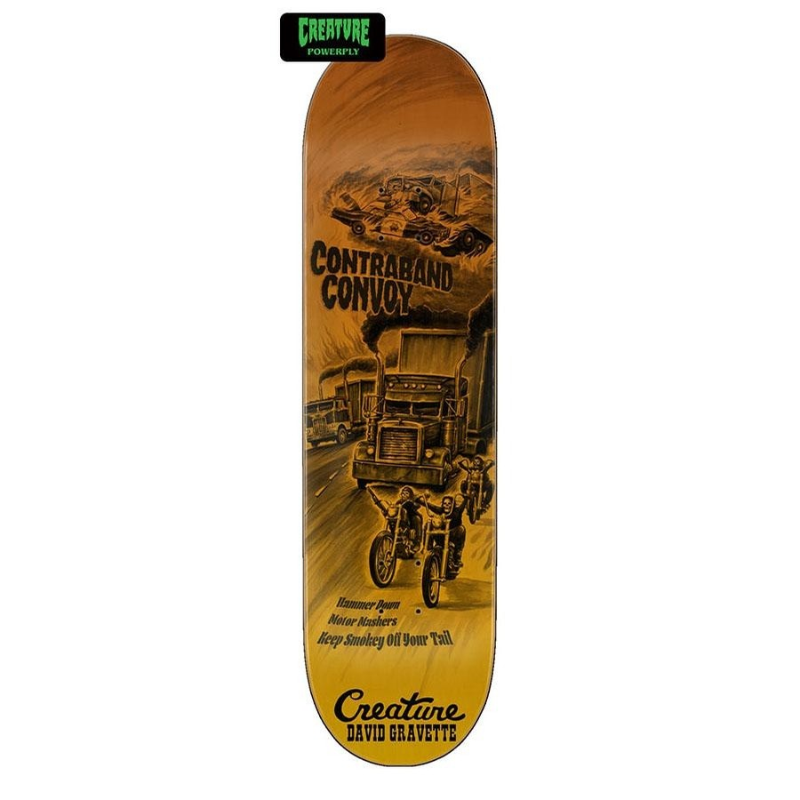 CREATURE ROADSIDE TERROR POWERPLY SKATEBOARD DECK - 8.3INCH