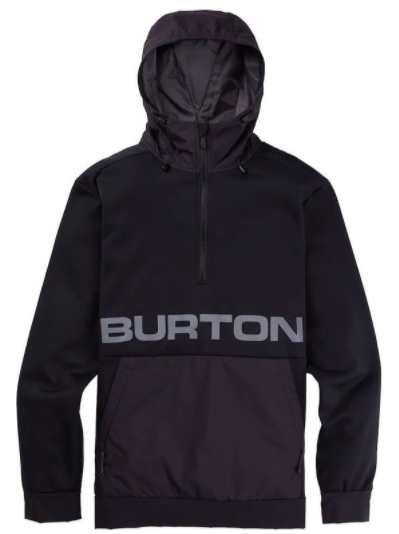 BURTON CROWN BONDED PERFORMANCE PULLOVER - TRUE BLACK