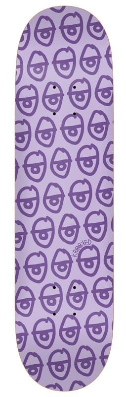 "KROOKED PEWPILS SKATEBOARD DECK 7.75"" - Purple"
