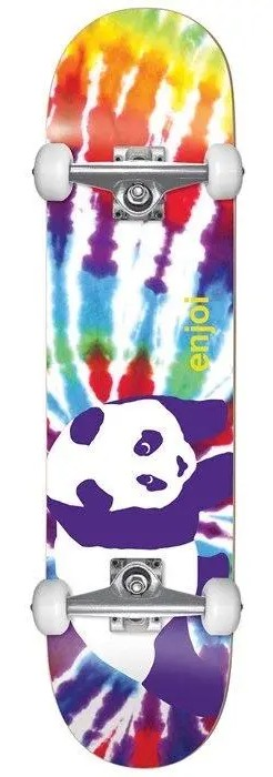 "ENJOI TIE DYE YOUTH FIRST PUSH COMPLETE SKATEBOARD 7.375"" - MULTI COLOR"