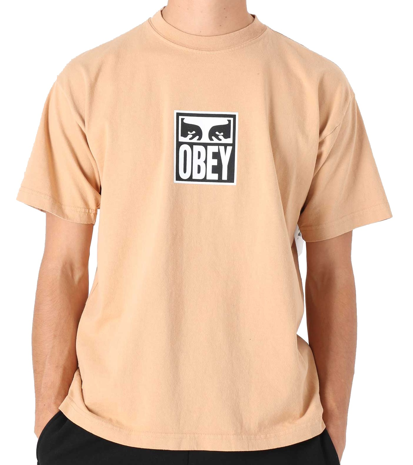 OBEY EYES ICON 3 HEAVYWEIGHT T-SHIRT - LIGHT TOFFEE