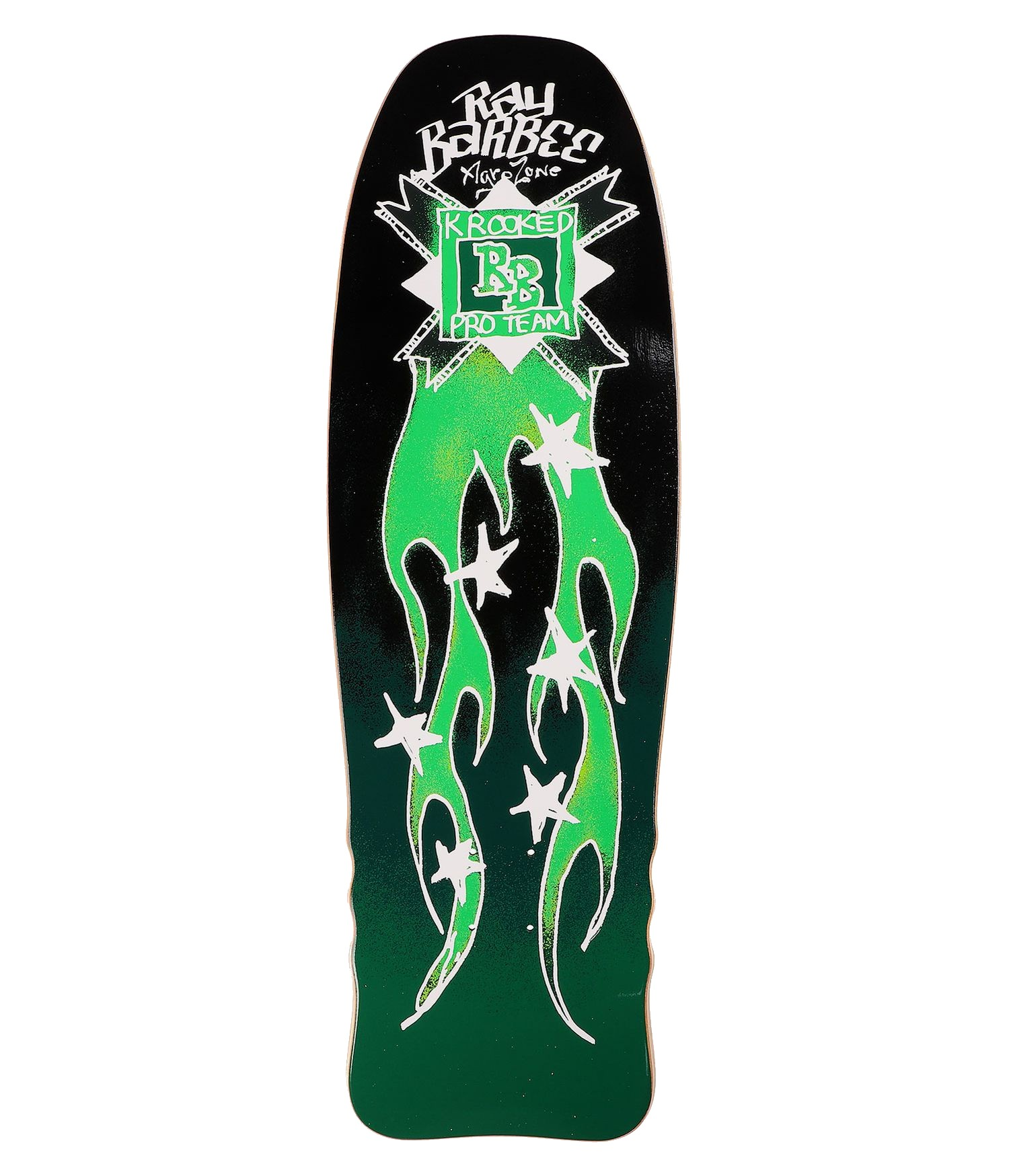 """KROOKED RAY BARBEE FLAMES 10.0"""" SKATEBOARD DECK"""