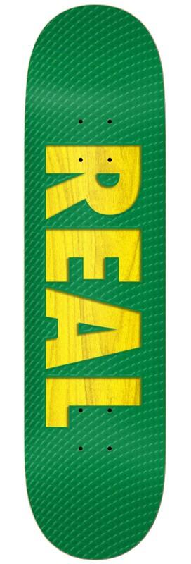 "REAL BOLD TEAM SKATEBOARD DECK ASSORTED VENEERS 8.38"" - GREEN"