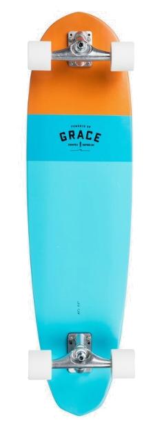 "QUIKSILER MINIBU PHIL GRACE 37"" SURFBOARD - BLUE TOPAZ"