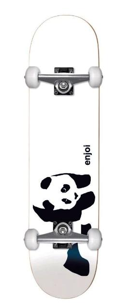"ENJOI WHITEY PANDA YOUTH 6.75"" SOFT TOP RESIN MICRO (KIDS) SKATEBOARD COMPLETE"