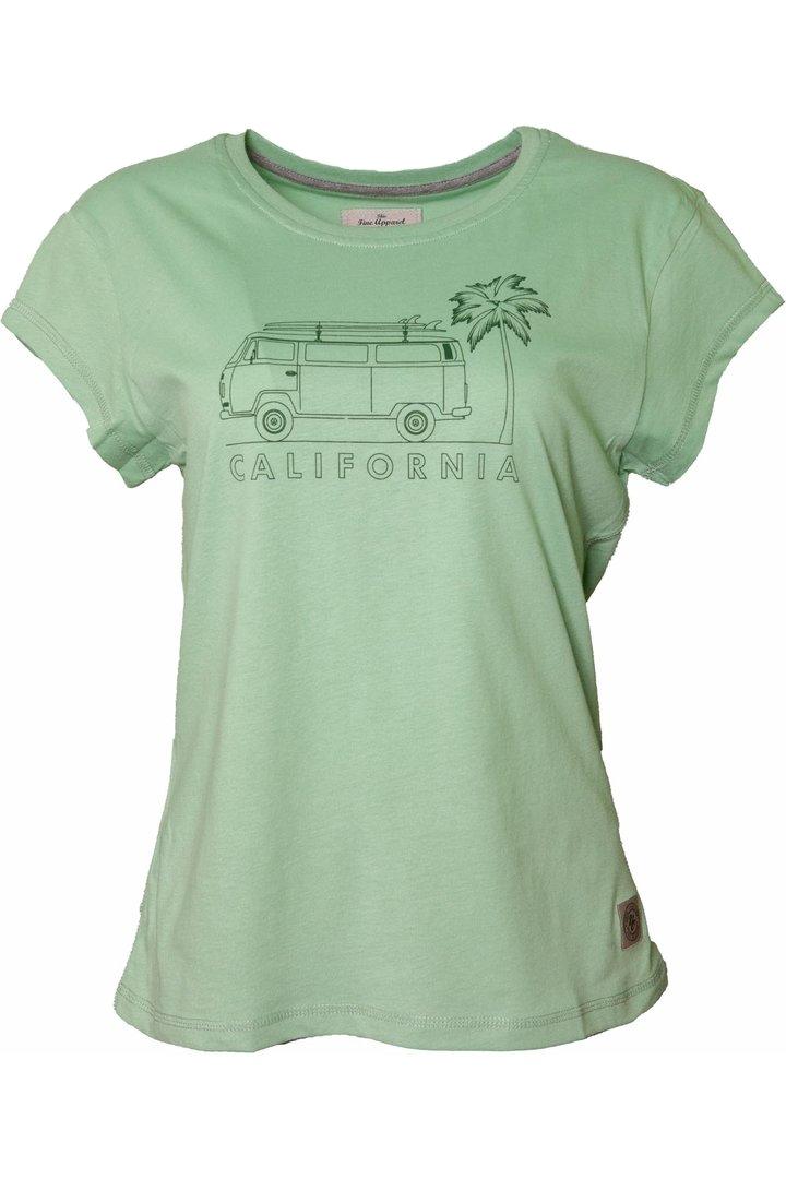 VAN ONE CLASSIC CARS CALIFORNIA T-SHIRT - LIGHT GREEN GREEN