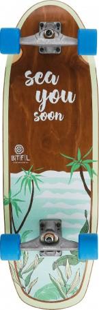 "BTFL CODY 9"" SURFSKATE LONGBOARD COMPLETE"