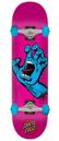 SANTA CRUZ SCREAMING HAND COMPLETE SKATEBOARD - PINK/BLUE