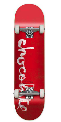 "CHOCOLATE ANDERSON OG CHUNK  8.0"" SKATEBOARD COMPLETE - RED"