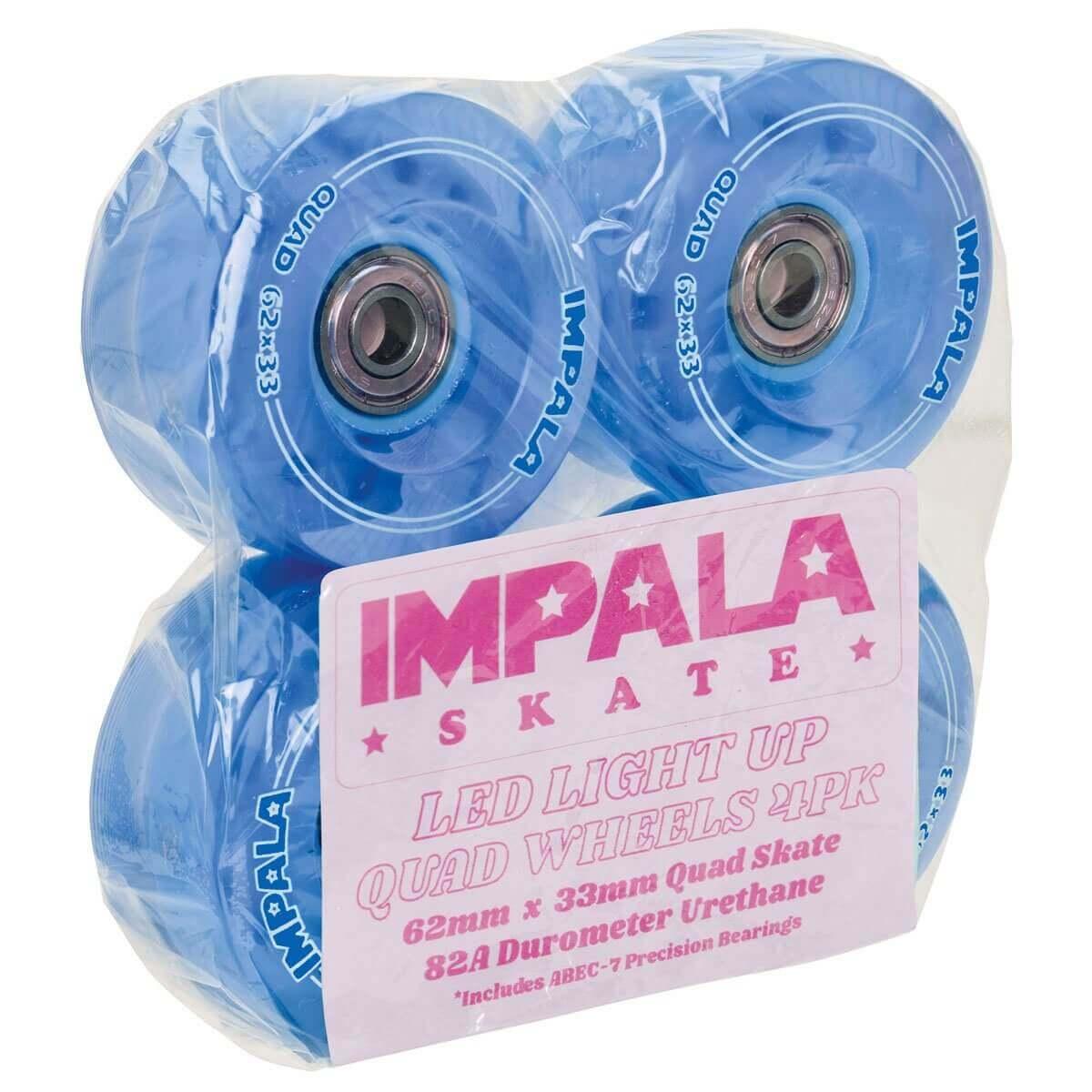IMPALA LIGHTUP REPLACEMENT ROLSCHAATS WIELEN (4-PACK) - BLUE