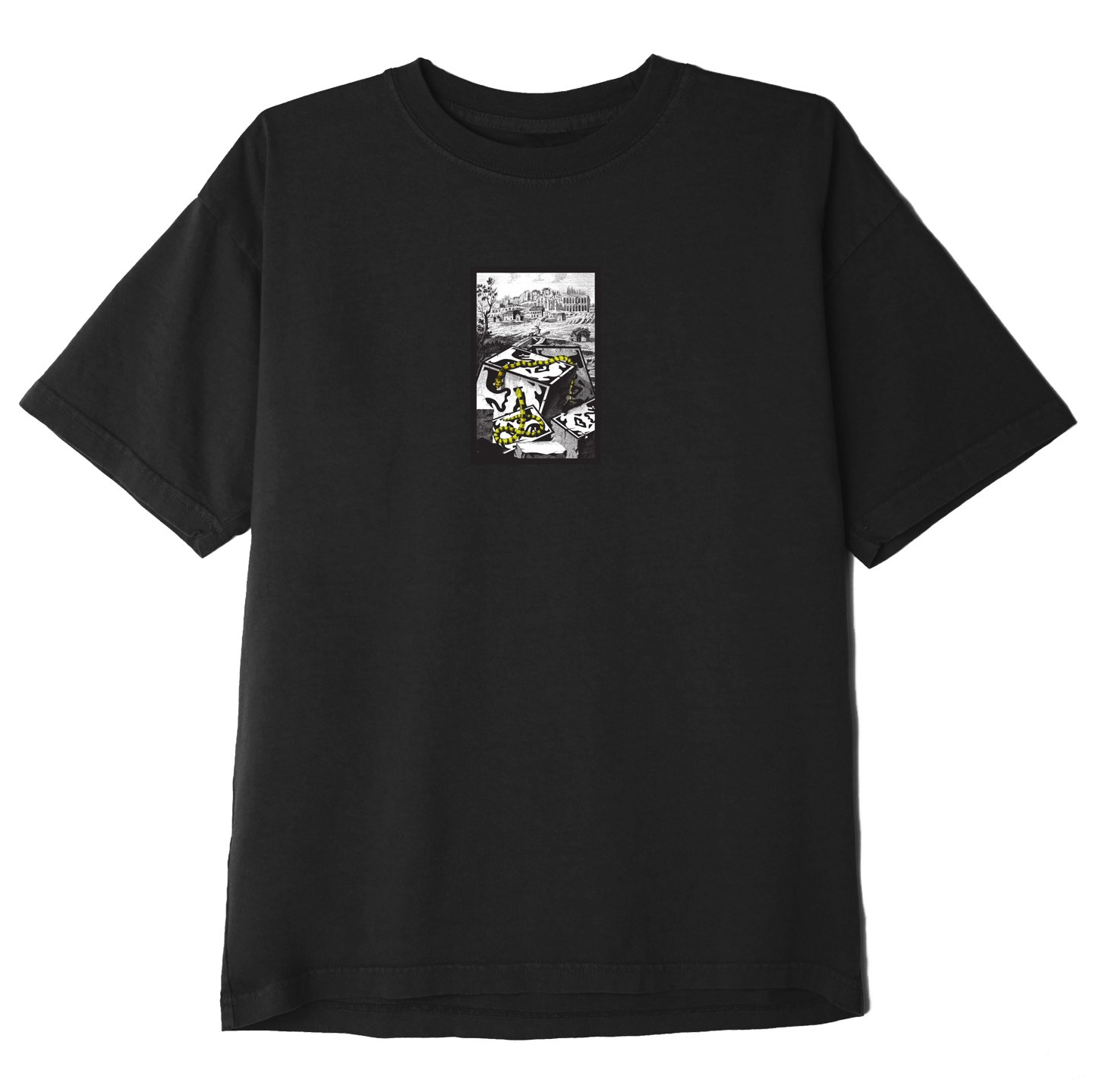 OBEY SNAKES T-SHIRT - BLACK