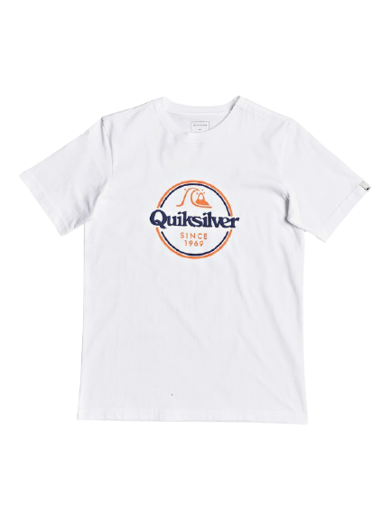 QUICKSILVER WORDS REMAIN SHORT SLEEVE YOUTH II TSHIRT - WHITE
