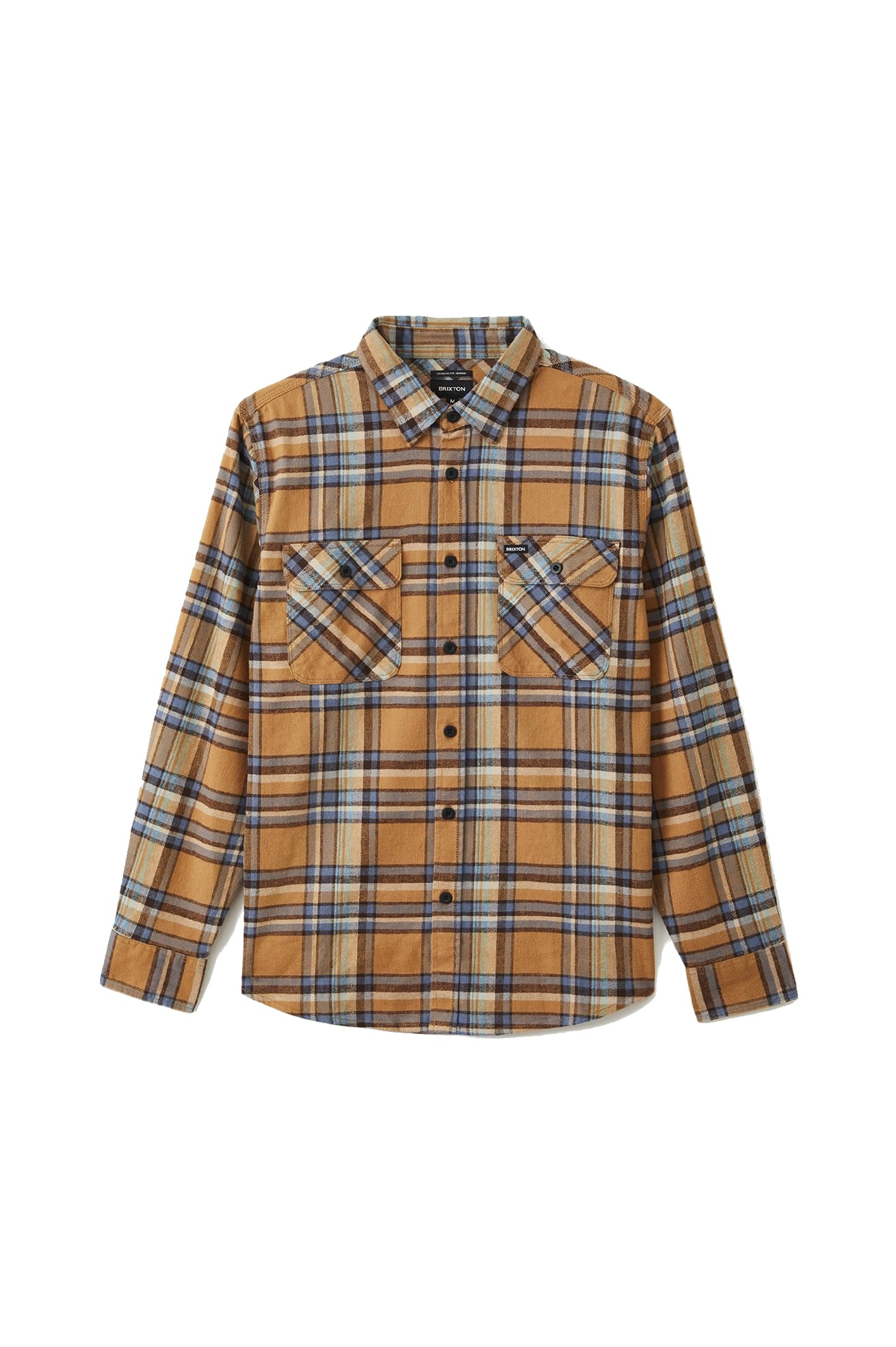 BRIXTON BOWERY TALL FLANNEL OVERHEMD - LION