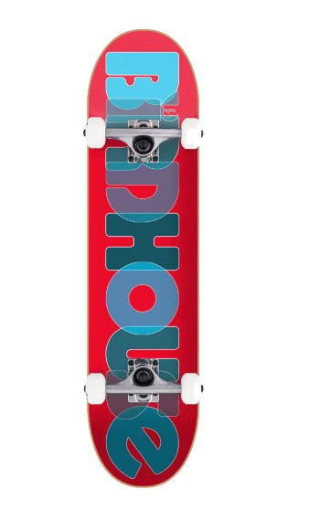 BIRDHOUSE COMPLETE STAGE 1 OPACITY LOGO 2 SKATEBOARD - RED